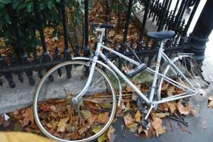 Lukittu polkupyörä